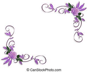 Svatební levandulová růže