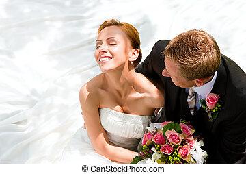 Svatební pár - ženich a ženich