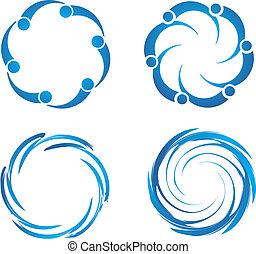 Swirl swooshes