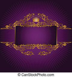 symbol, královský, prapor