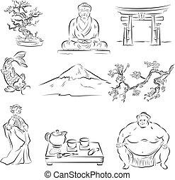 symbol, kultura, japonština