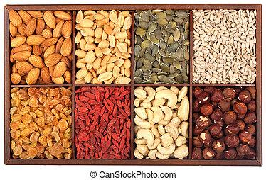 Syrové oříšky a semínka