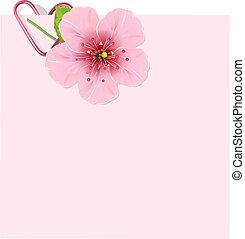 Třešňový květový dopis
