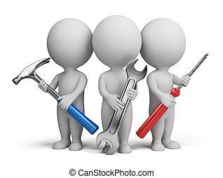 Tři malí lidé - opraváři