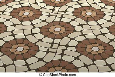 taška podlaha, vektor, mozaika