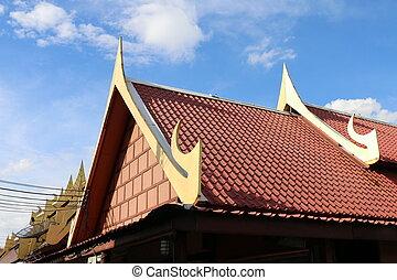 tašky, thai, móda, střecha, asie