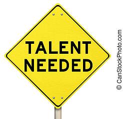 Talent potřeboval žlutou značku na hledání talentovaných lidí