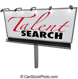 Talentovaný vyhledávací billboard chtěl najít schopné dělníky