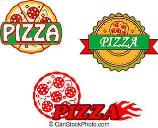Tasty pizzy a emblémy