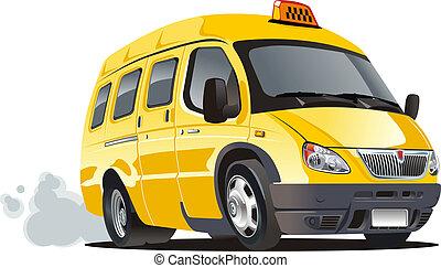 taxi, peruť, karikatura