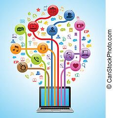 technika, app, strom