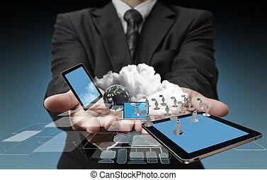 Technika v rukou obchodníků