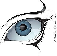 To tetování ženských očí