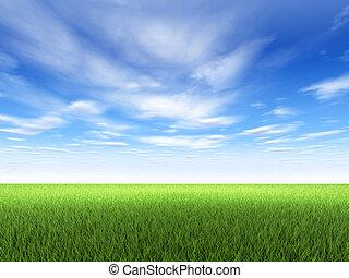 Tráva a obloha