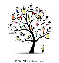 Trénování jógy, pojem o stromech