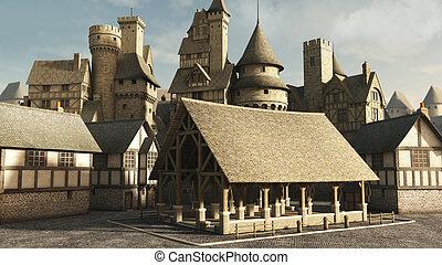 tržiště, středověký