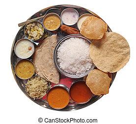 Tradiční indické jídlo a jídlo