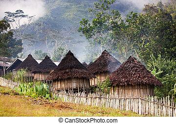 Tradická horská vesnice