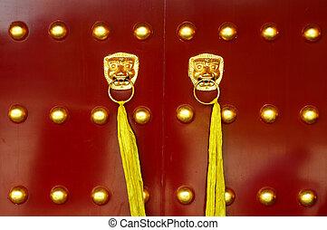 Tradické čínské dveře