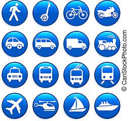 Transportní ikony navrhují prvky