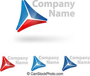trojúhelník, emblém, design
