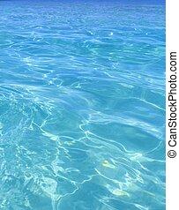 Tropická turquoise, modrá voda