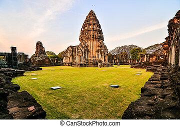 troska, fotografie, zaujatý, překrásný, phimai, thajsko, asie, thai