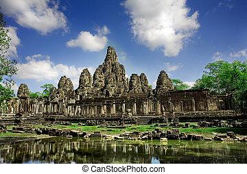 troska, kambodžan, chrám