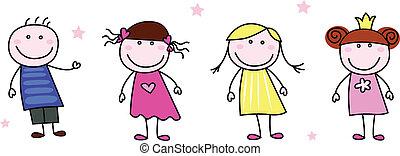 Tyčinka - doodle dětí