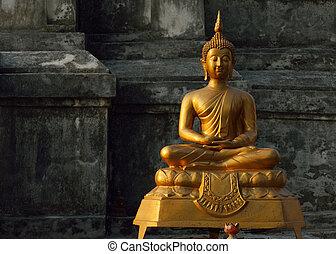 umění, buddhismus, asie, buddha, socha, skulptura, chrám