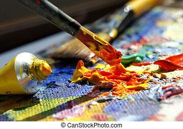umění, paleta