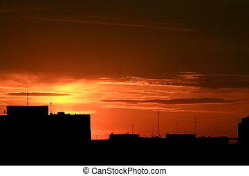 Urbanské západy slunce