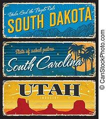 Utah, Jižní Dakota a Carolina, shabby