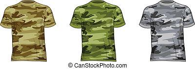 válečný, muži, košile