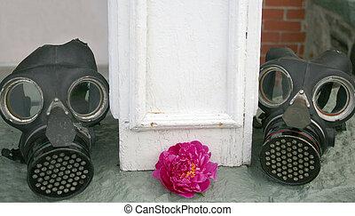 válka, 2, masky, společnost, plyn, ii