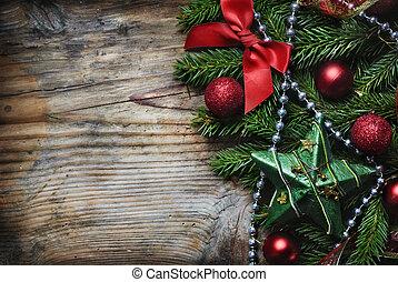 Vánoční dřevěný pozadí
