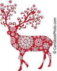 Vánoční jelen, vektor