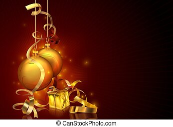 vánoce, grafické pozadí, červeň