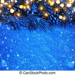 vánoce, grafické pozadí, umění, sněžit, konzervativní
