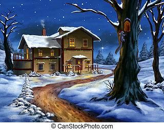 vánoce, krajina