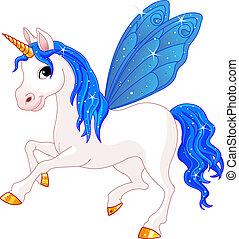 víla, chvost, indigo, kůň