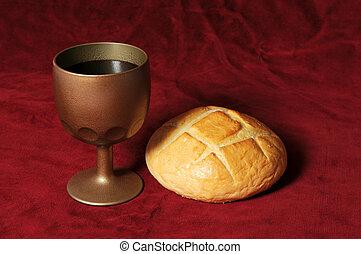 víno, bread