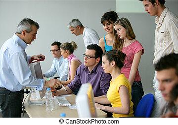 výcvik, školství, businesspeople