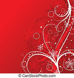 výzdoba, vektor, vánoce, grafické pozadí