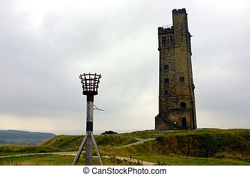 věž, viktorie, zámek vyvýšenina
