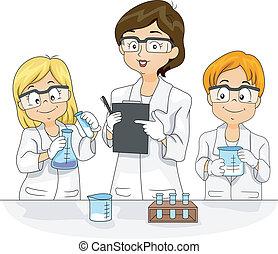 věda experiment