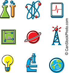 věda, ikona