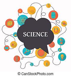 věda, vektor, grafické pozadí