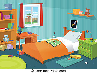 V dětské ložnici