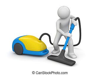 Vacuum čistírna - sbírka dělníků